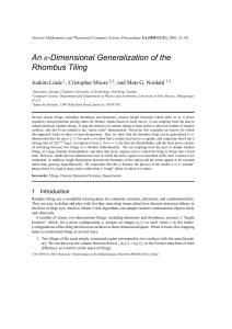 An n-Dimensional Generalization of the Rhombus Tiling