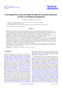 Inhomogeneous cloud coverage through the Coulomb explosion of