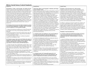 History-Social Science Content Standards