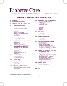 (ADA) Standards of Medical Care in Diabetes 2015
