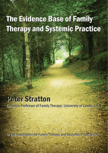 Evidence Base of Family Therapy and Systemic Practice