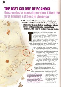 Uncovering a conspiracy thai killed th first English settlers in America