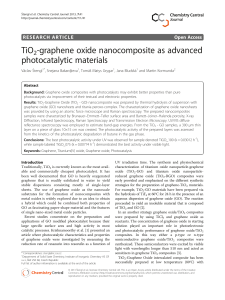 TiO2-graphene oxide nanocomposite as advanced photocatalytic