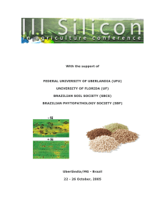 III Silicon in Agriculture Conference Proceedings, Brazil