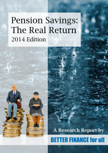 Pension Savings: The Real Return