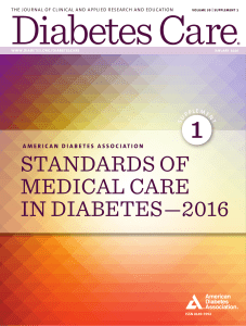 ADA: Standards of Medical Care in Diabetes 2016