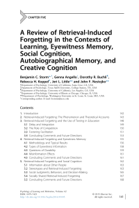 A Review of Retrieval-Induced Forgetting in the