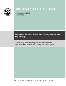 Petroleum Product Subsidies: Costly, Inequitable, and Rising