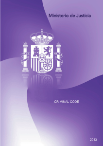 Criminal Code of the Kingdom of Spain