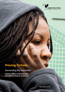 Proving Torture - Freedom from Torture