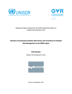 Intensive and Extensive Disaster Risk Drivers and