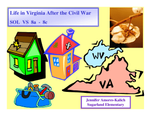 Life in Virginia After the Civil War