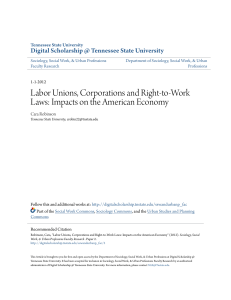 Labor Unions, Corporations and Right-to