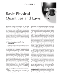 Basic Physical Quantities and Laws
