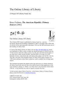 Online Library of Liberty: The American Republic: Primary Sources
