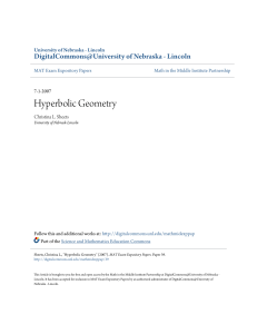 Hyperbolic Geometry - DigitalCommons@University of Nebraska