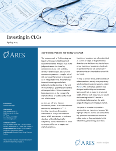 Investing in CLOs - CION Investments