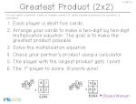 Greatest Product (2x2)
