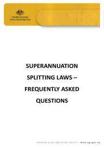 Superannuation splitting frequently asked questions [PDF 497KB]