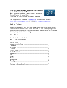 Ocean and Sustainability Curriculum for American Spaces by the