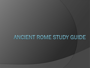 Ancient Rome study guide