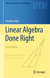 Sheldon Axler Third Edition