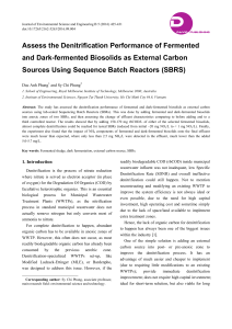 Assess the Denitrification Performance of Fermented and Dark