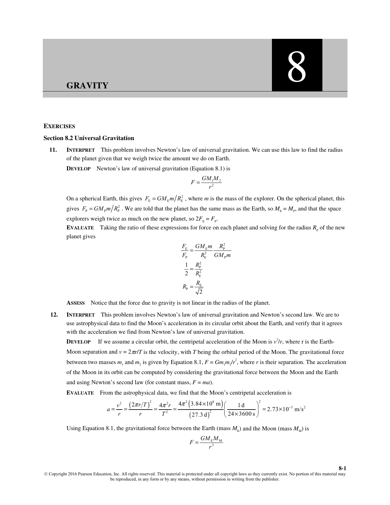 Chapter 8 solutions - University of Puget Sound