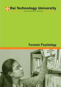 Forensic Psychology - Department of Higher Education
