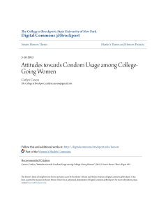 Attitudes towards Condom Usage among College