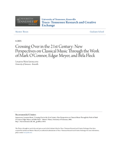 Crossing Over in the 21st Century - Trace: Tennessee Research and