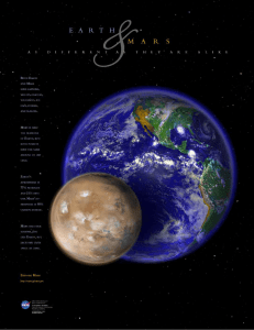 Earth and Mars: As Different As They Are Alike