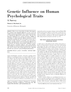 (2004). Genetic Influence on Human Psychological Traits
