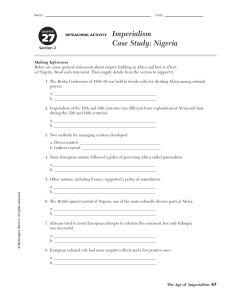 chapter 27 section 2 imperialism case study nigeria reteaching activity