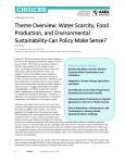 Theme Overview: Water Scarcity, Food Production, and