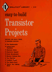 Easy-to-build transistor projects