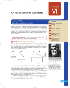 An Introduction to Geometry