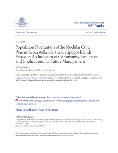 Population Fluctuation of the Nodular Coral