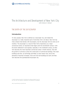 The Architecture and Development of New York City
