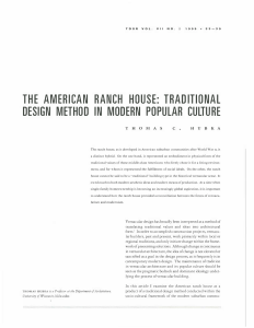 the american ranch house: traditional design method in modern