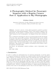A Photographic Method for Panoramic Sequence with a Regular