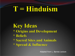 Hinduism - Lecture - Helena High School