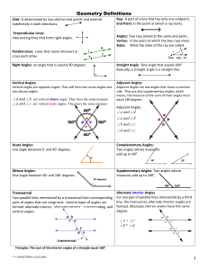 (Geometry) Lines and Angles