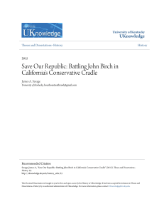 Save Our Republic: Battling John Birch in California`s