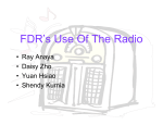 FDR`s use of the Radio