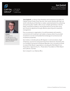 Sam Dashiell - Capital Group
