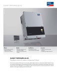 SUNNY TRIPOWER 60-US - The efficient solution for medium