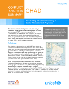 Conflict Analysis Summary: Chad