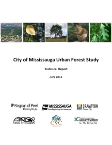 City of Mississauga Urban Forest Study Technical Report