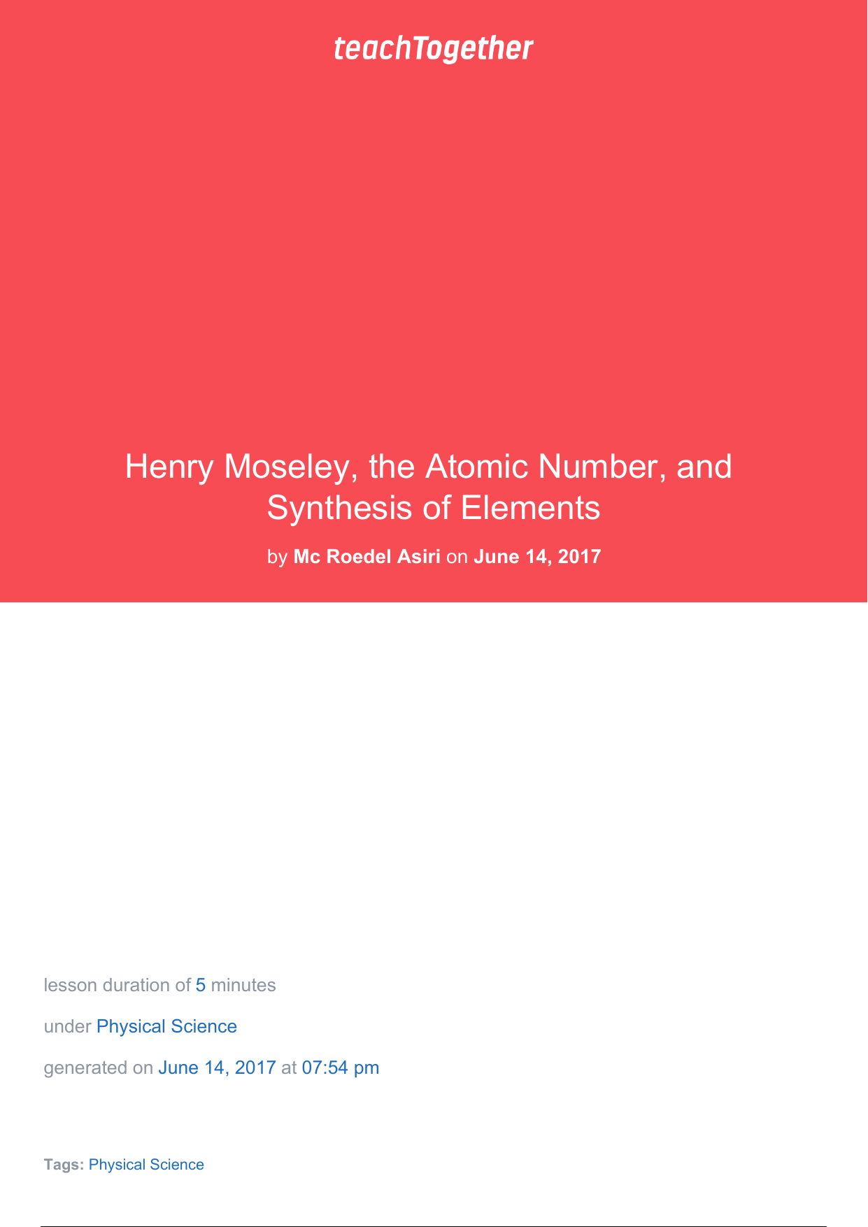 Henry moseley the atomic number and synthesis gamestrikefo Image collections